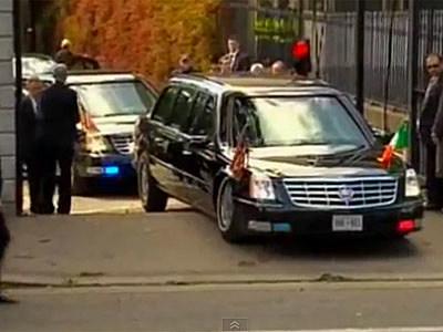 Presidential Limousine High-centered