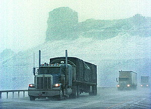 Snowstorm in Wyoming