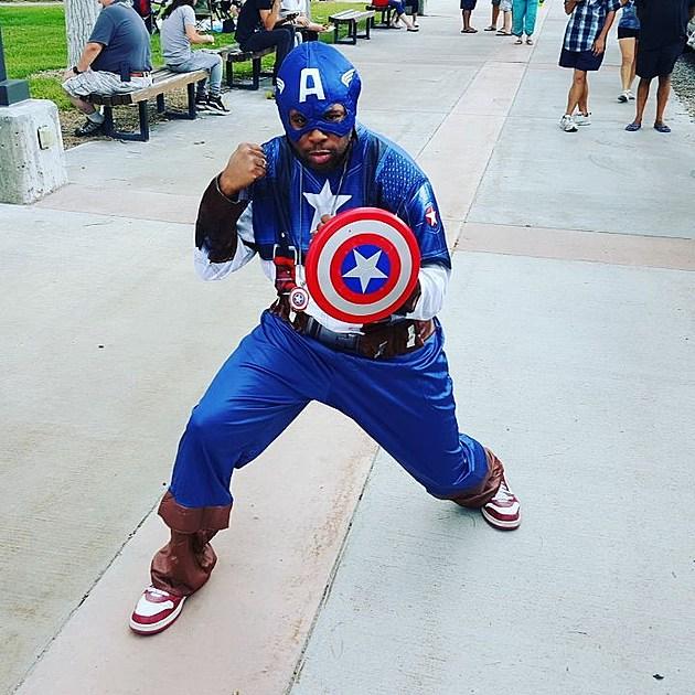 DJ Nyke as Captain America