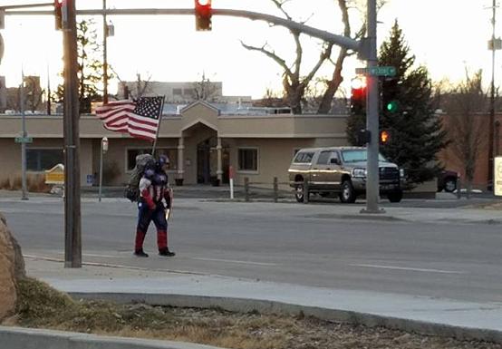 Captain America in Casper