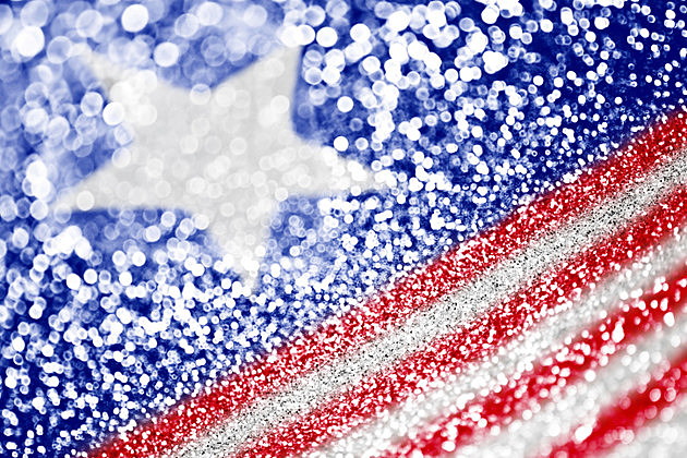 Patriotic red white and blue glitter sparkle
