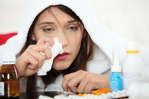 Ill woman at home