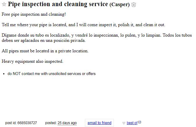 Craigslist casper